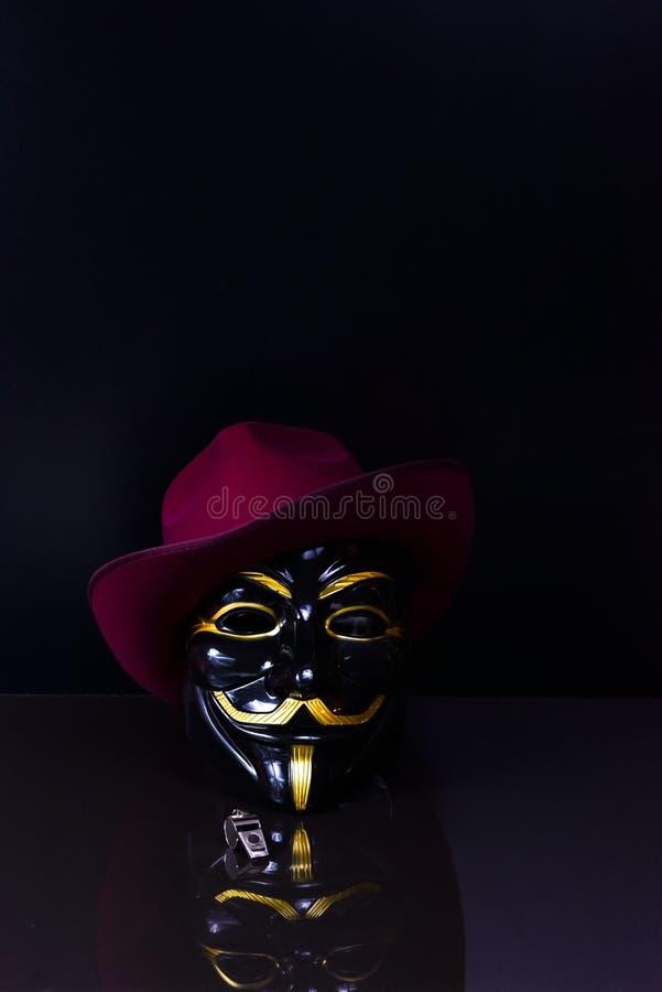 Ventilador do assobio anônimo fotos de stock