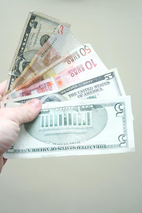 Fã do dinheiro fotos de stock