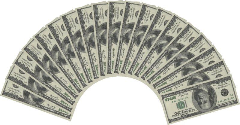Ventilador do dinheiro imagem de stock royalty free