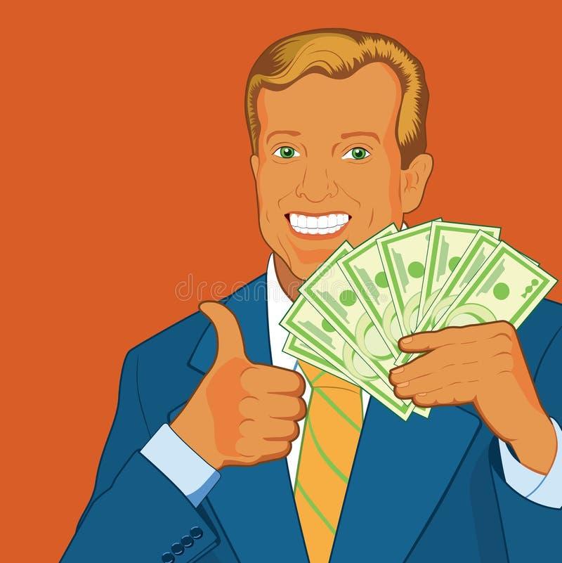 Ventilador do dinheiro ilustração stock