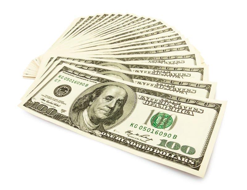 Ventilador do dinheiro do dinheiro imagem de stock