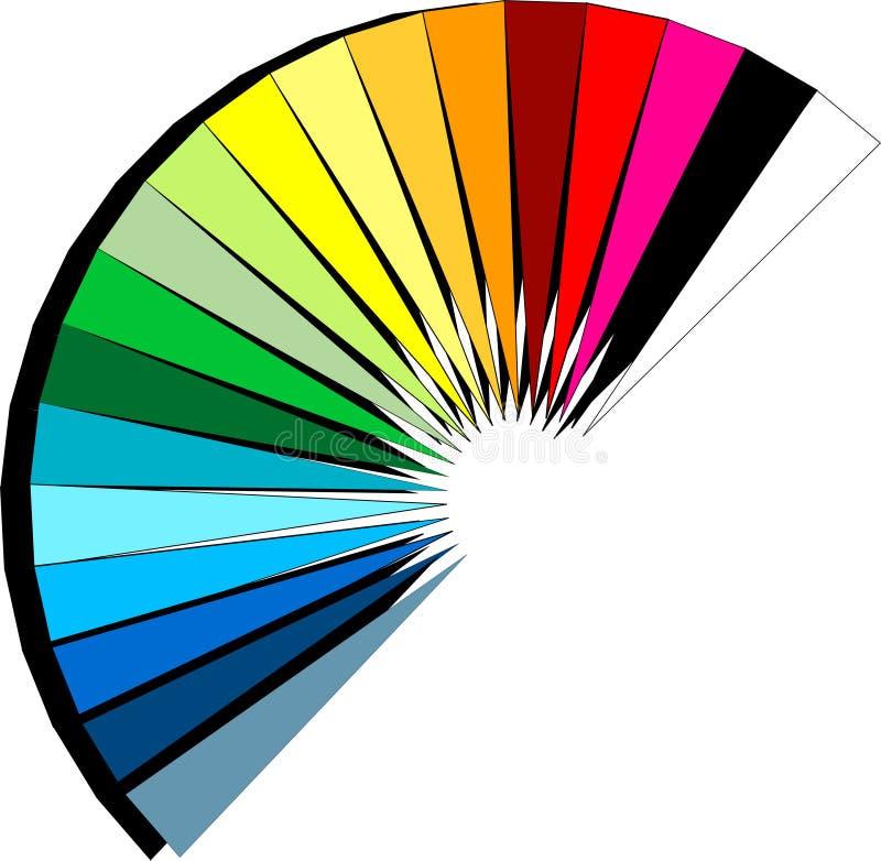 Ventilador do espectro ilustração stock