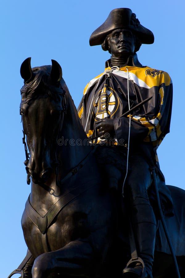 Ventilador dos Bruins #1 de Boston foto de stock royalty free