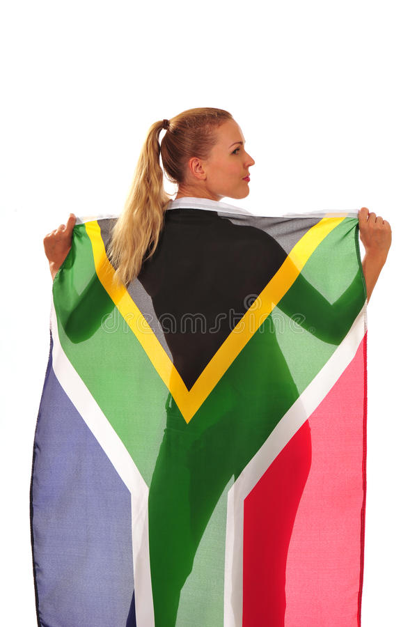 Ventilador drapejado na bandeira imagens de stock