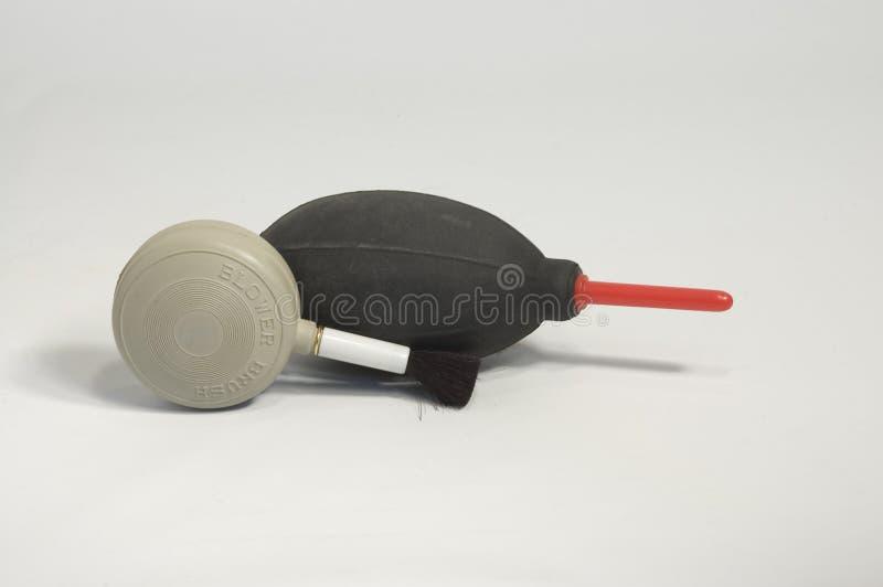 Ventilador e escova do ventilador imagem de stock