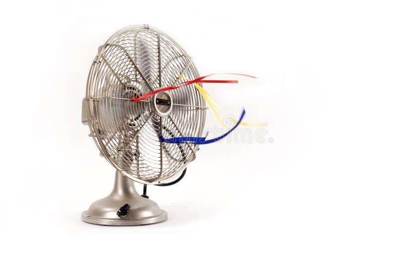 Ventilador eléctrico de la vendimia imagenes de archivo
