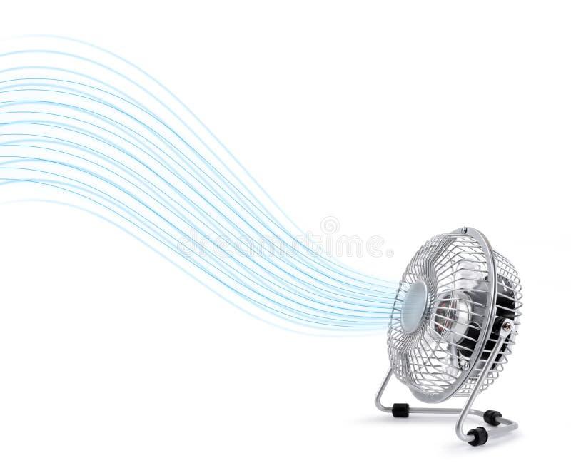 Ventilador elétrico do refrigerador que funde o ar fresco fotos de stock