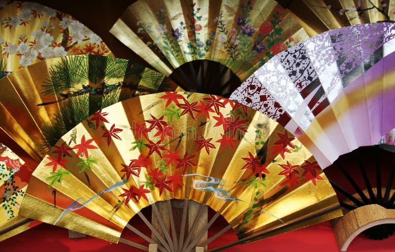 Ventilador japonés tradicional fotografía de archivo libre de regalías
