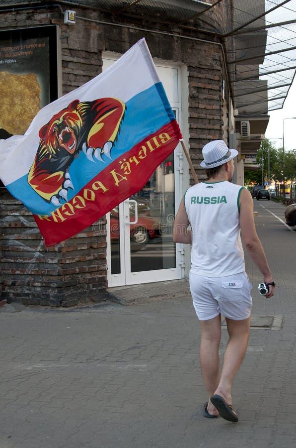 Ventilador ruso con el indicador en Varsovia. fotografía de archivo libre de regalías