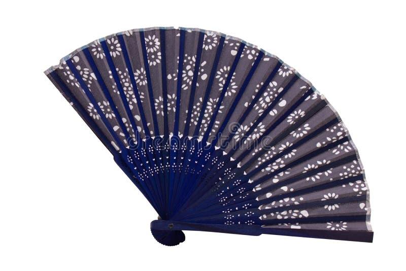 Ventilador spaned azul imágenes de archivo libres de regalías