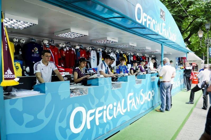 Ventilador-zona En Euro-2012 Fotografía editorial
