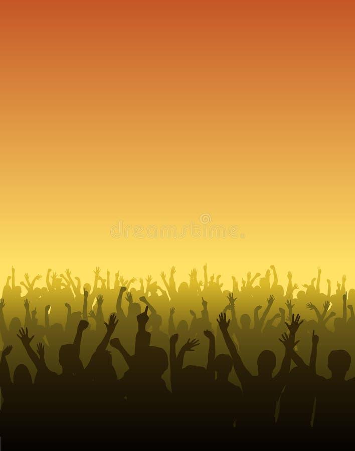 Ventiladores Cheering ilustração royalty free