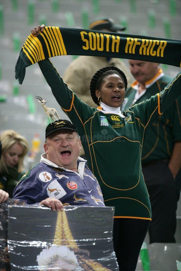 Ventiladores de África do Sul fotografia de stock royalty free