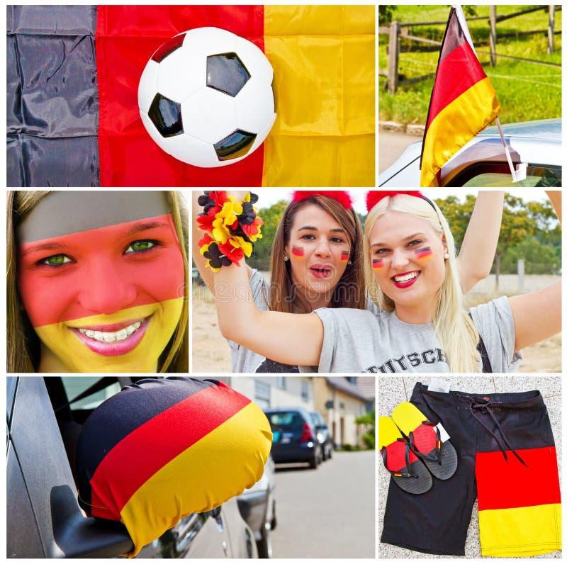 Ventiladores de futebol alemães fotos de stock