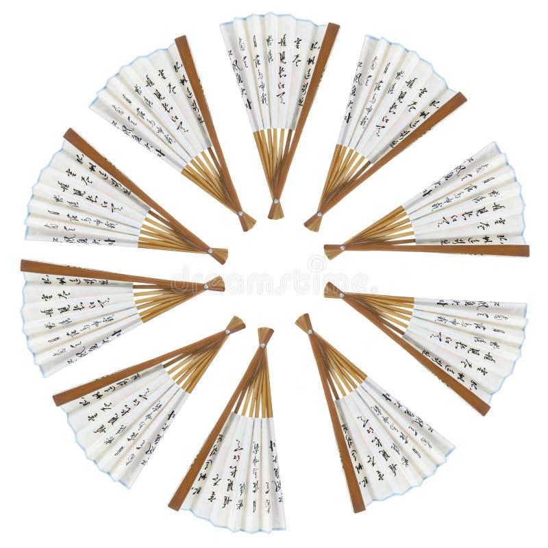 Ventiladores do papel chinês foto de stock