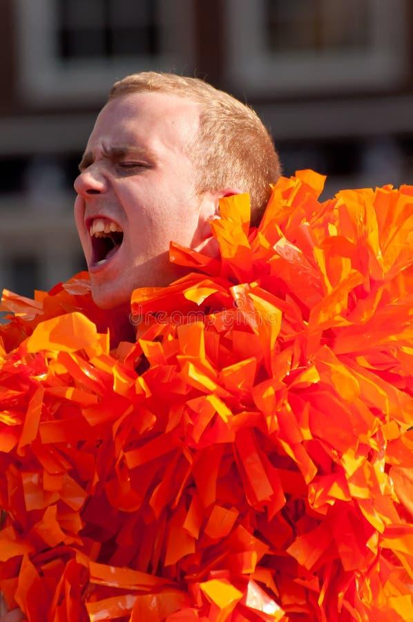 Ventiladores footbal holandeses imagens de stock