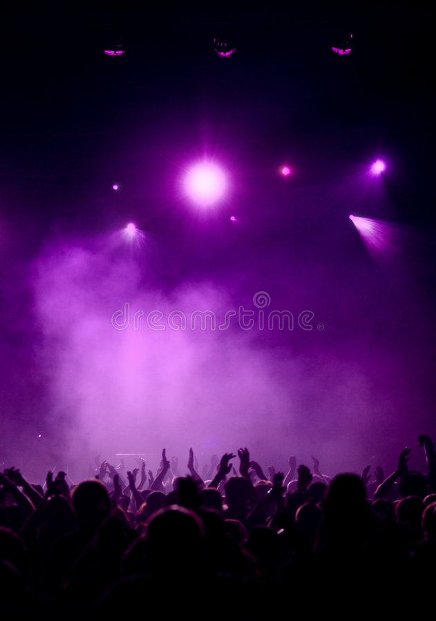Ventiladores violetas imagen de archivo libre de regalías