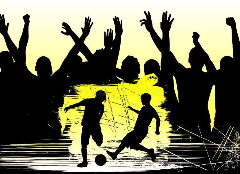 Ventiladores y fútbol ilustración del vector