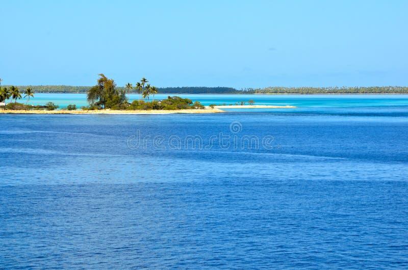Ventilando a ilha no South Pacific imagem de stock