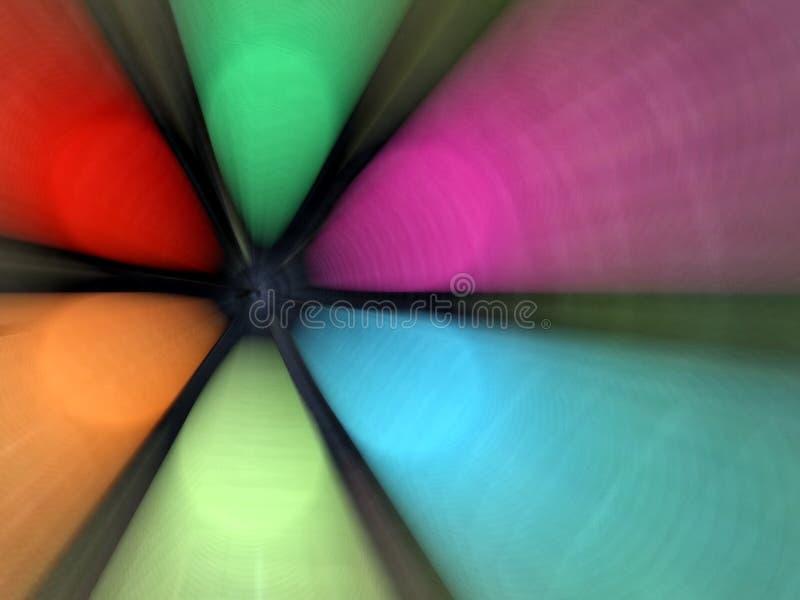 Ventilateur abstrait coloré images libres de droits