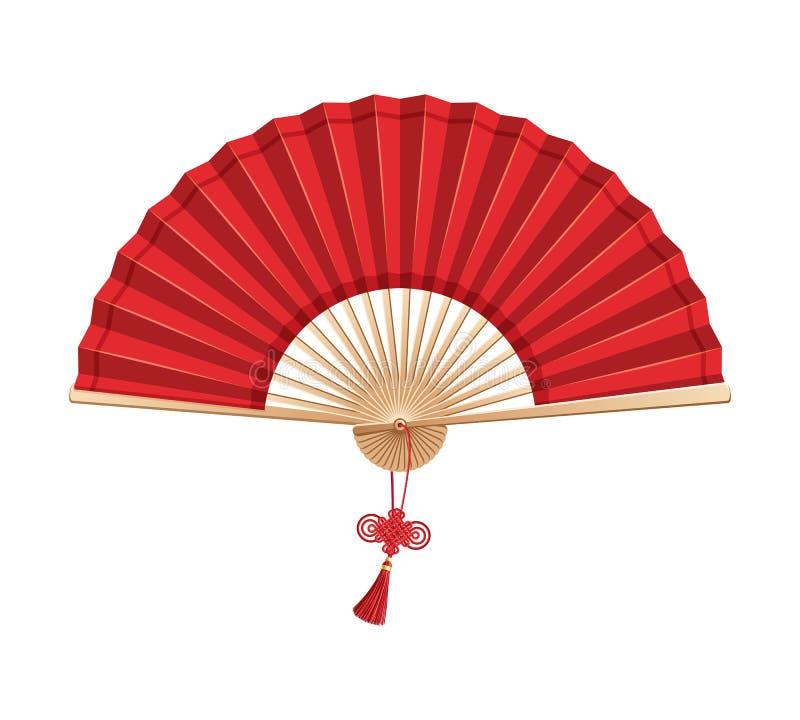 Ventilateur chinois de main illustration stock