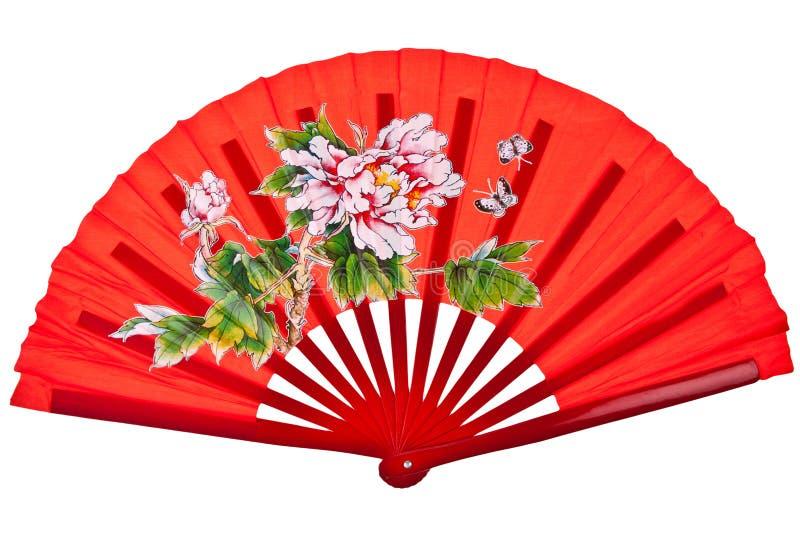 Ventilateur chinois oriental rouge photos stock
