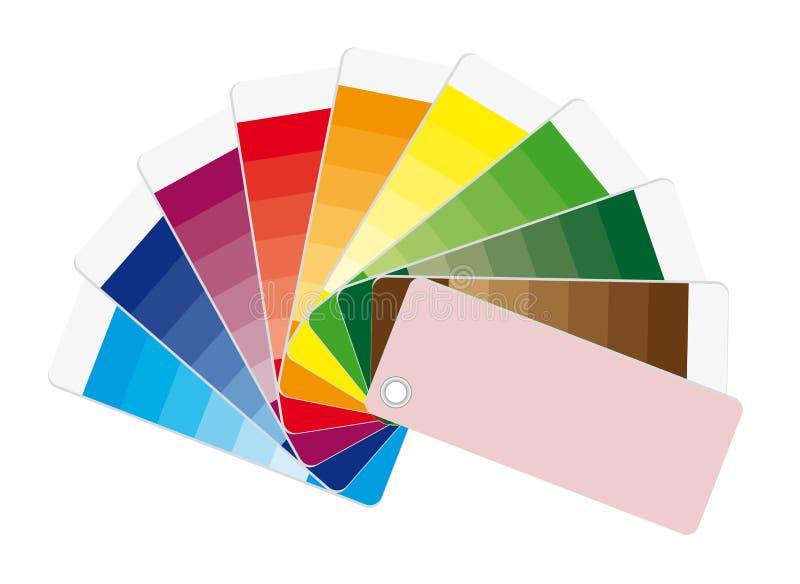 Ventilateur de couleur illustration stock
