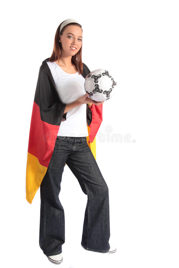 Ventilateur de football allemand attrayant photo stock