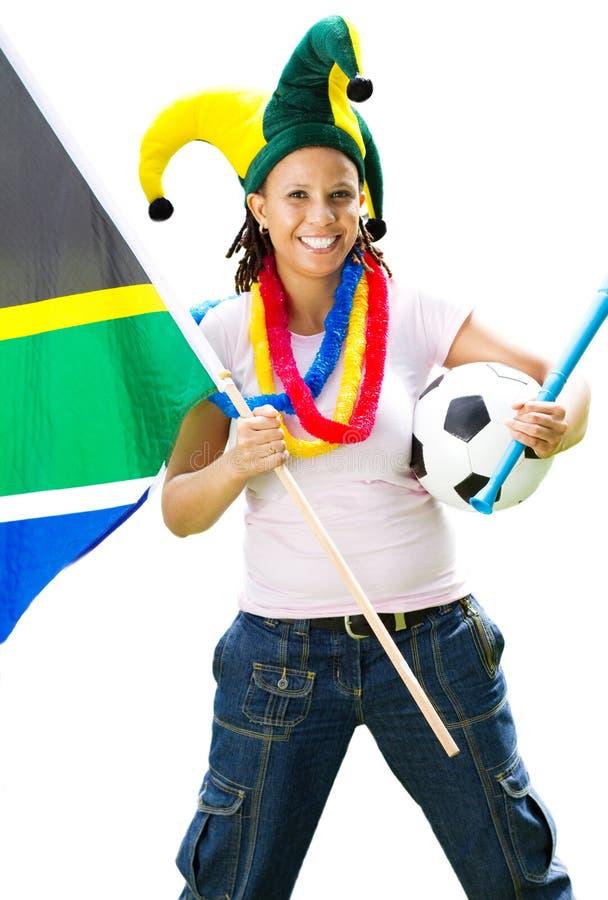 Ventilateur de football femelle photo libre de droits
