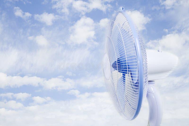 Ventilateur de nuage photographie stock