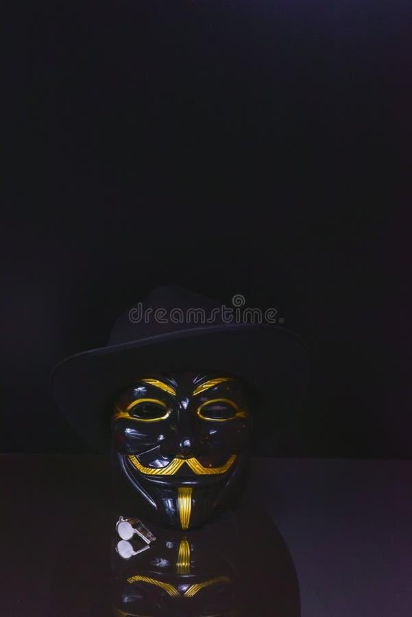 Ventilateur de sifflement anonyme image libre de droits