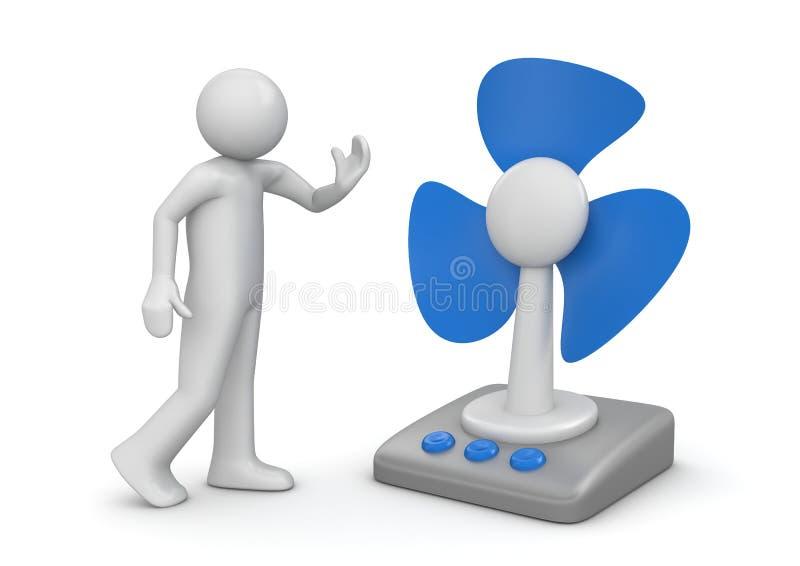 Ventilateur de Tableau illustration stock