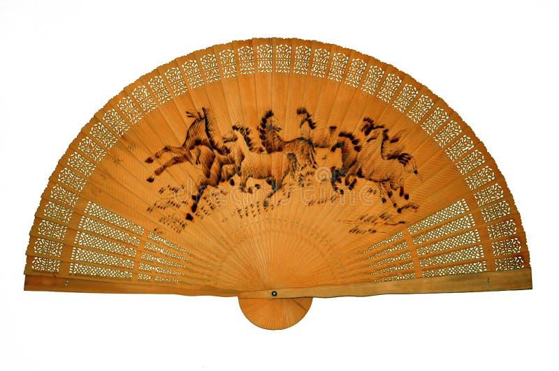 Ventilateur en bois oriental photos stock