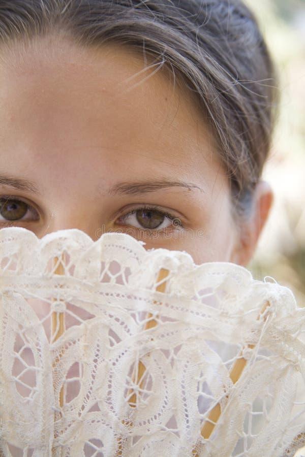 Ventilateur et yeux image stock