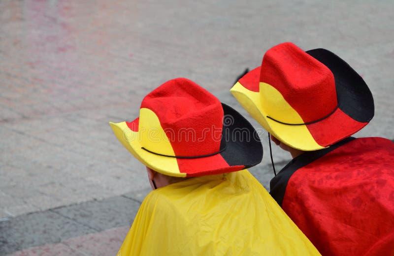 Ventilateurs allemands photographie stock libre de droits