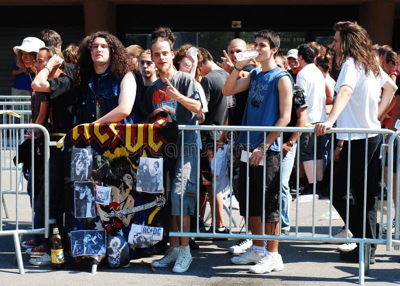 Ventilateurs avant concert photos libres de droits
