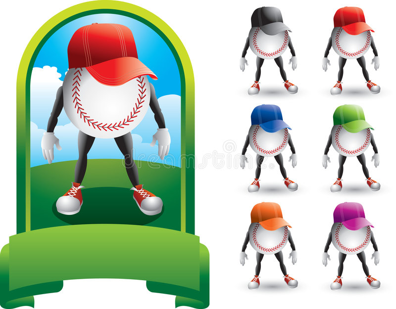 ventilateurs de base-ball illustration libre de droits