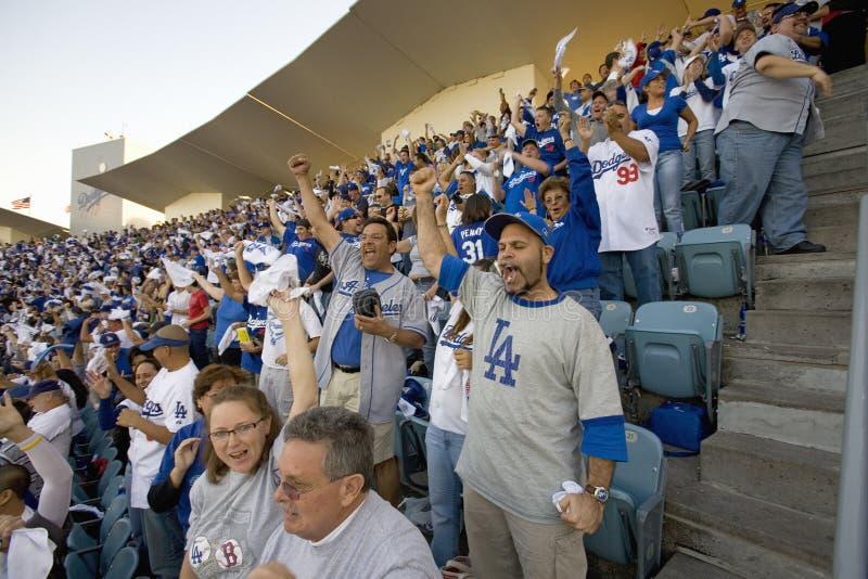 Ventilateurs de Dodger photos stock