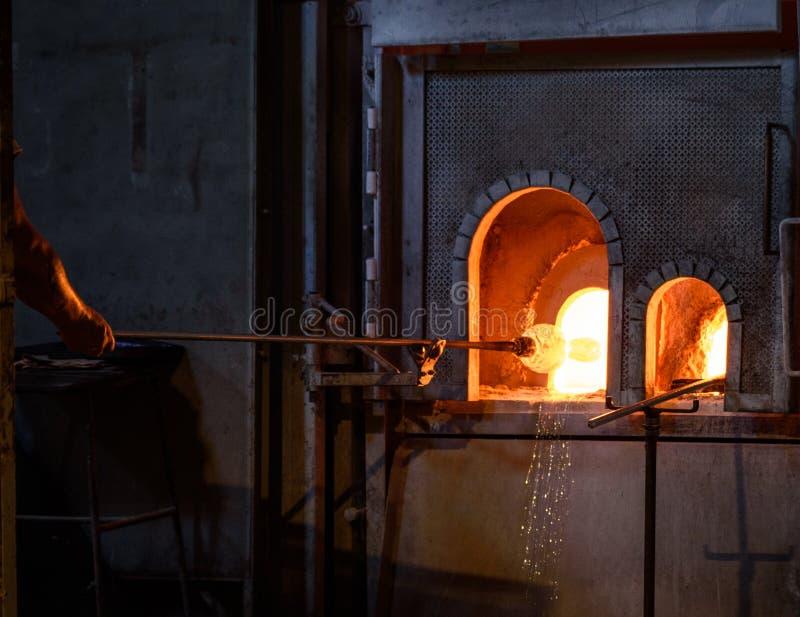Ventilateurs en verre de Murano images libres de droits