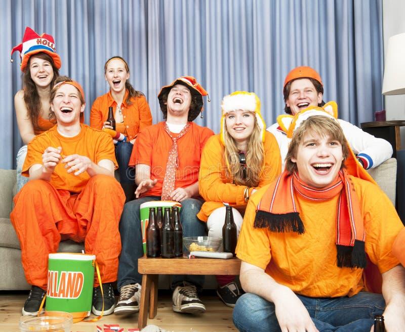 Ventilateurs riants photographie stock libre de droits