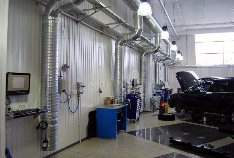 Ventilatiesysteem in het benzinestation royalty-vrije stock fotografie