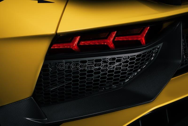 Ventilation arrière de l'Aventador SV photo libre de droits