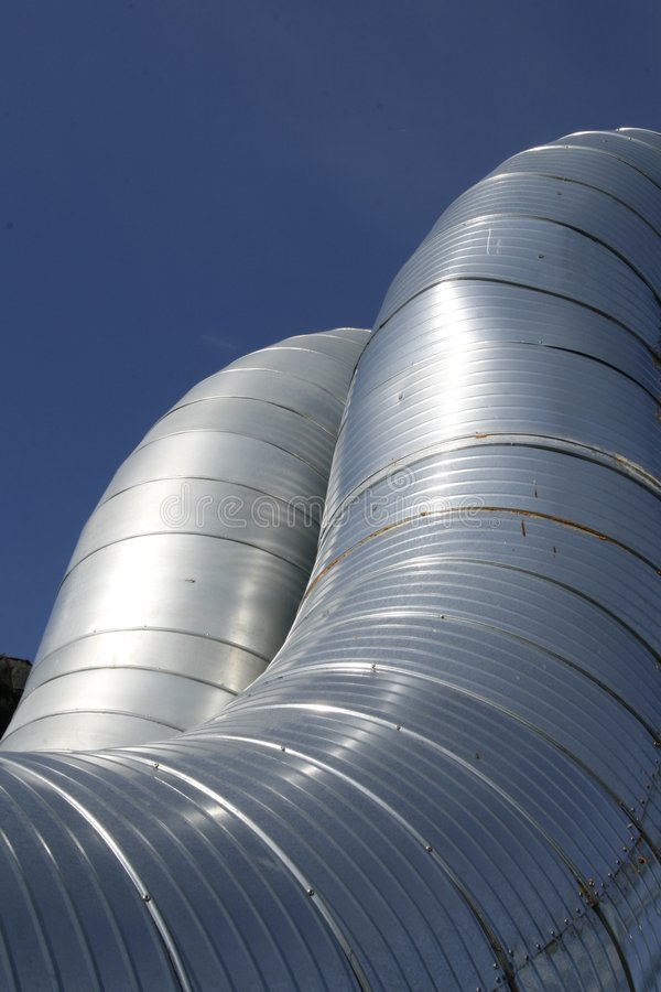 Ventilation ducts royalty free stock images