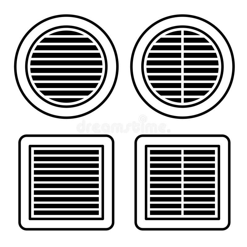 Free Ventilation Grille Black Symbol Stock Photos - 81519993