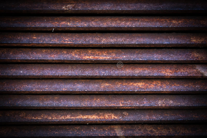 Ventilation metal grating. Vintage metal grid background stock photo