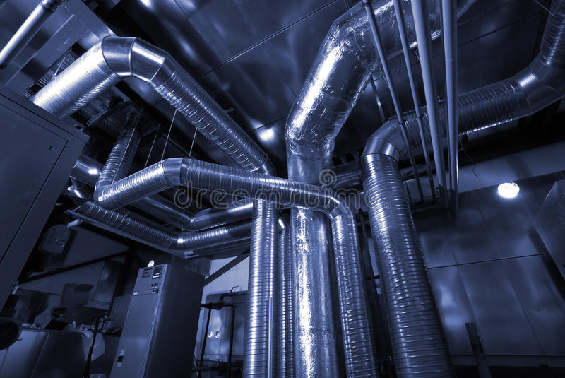 Ventilation Pipes Of An Air Condition Stock Photo - Image of ...