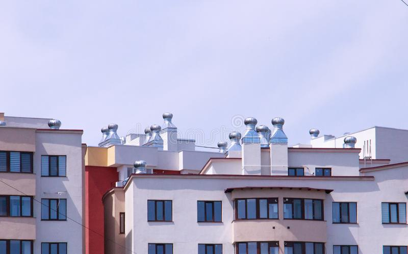 Ventilation system installed in a residential building stock photography