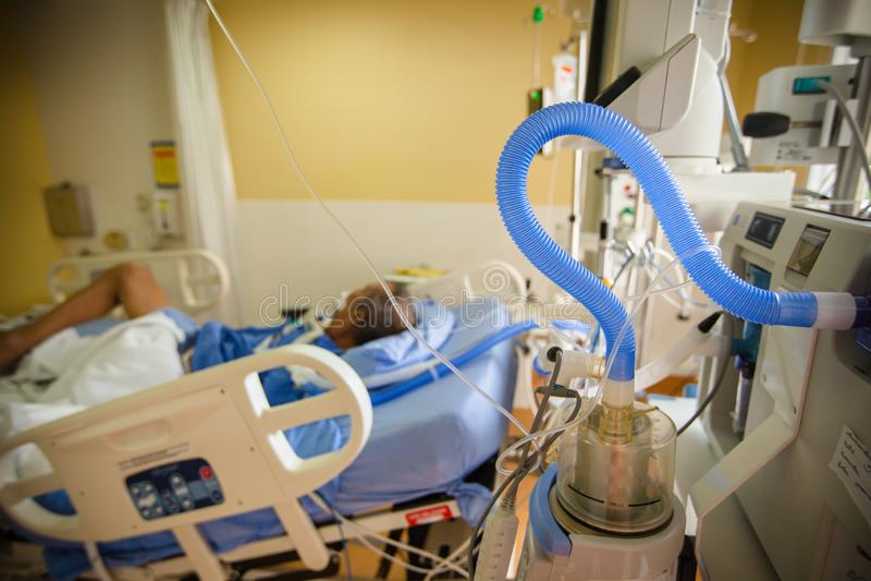 Ventilationsenhet för konstgjord lunga arkivbild