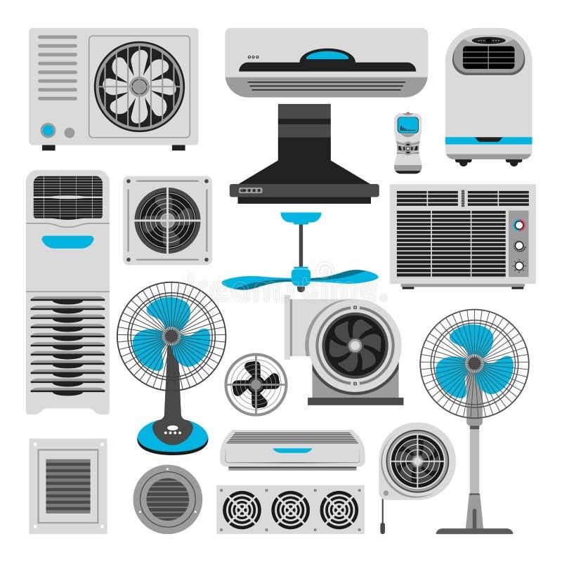 Ventilator en de kappropeller van de van de airconditionerventilatie en uitlaat royalty-vrije illustratie
