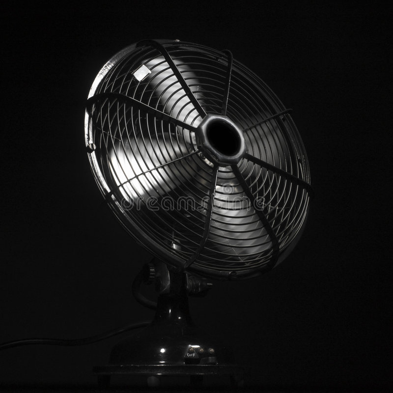 Ventilator or fan in action stock image